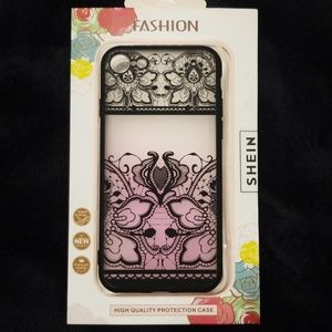 9b6dc37ec1 I Phone 7/8 NWT Rubber Pink Fade Lace Detail Case